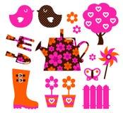 Garden equipment & design elements Stock Photo