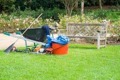 Garden equipment left Royalty Free Stock Photos