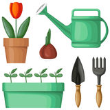Garden equipment set Stock Image