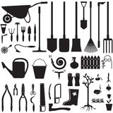 Garden equipment set Royalty Free Stock Image