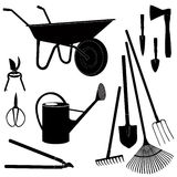 Garden equipment. Vector icon set Royalty Free Stock Images