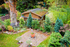 Garden in fall Royalty Free Stock Images