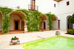 The garden of the famous Alcazar of Cordoba Royalty Free Stock Image