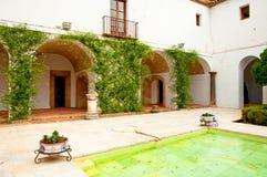 The garden of the famous Alcazar of Cordoba Royalty Free Stock Image