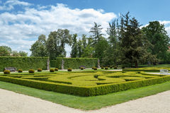 Garden in famous Baroque chateau Jaromerice nad Rokytnou Stock Photography