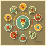Garden Farm icons and agriculture infographics Royalty Free Stock Photos