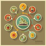 Garden Farm icons and agriculture infographics Stock Photography