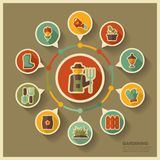 Garden Farm icons and agriculture infographics Royalty Free Stock Photography
