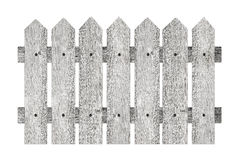 Garden fence. With planks isolated on white background Stock Images