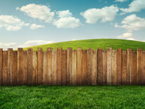 Garden fence royalty free stock images