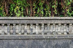 Garden Fence. Dark fence of a villa of the early twentieth century in northern Spain Royalty Free Stock Photo