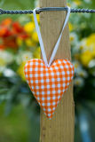Garden fence with heart Stock Images