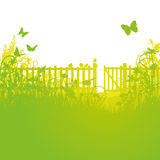 Garden fence and open gates Stock Photography