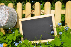 Garden fence and panel Stock Image