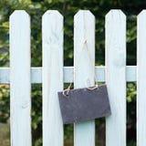 Garden fence, slate Stock Image