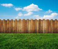 Garden fence stock illustration