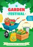 Garden Festival Poster Stock Photos