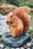 Garden figurine squirrel Royalty Free Stock Photography