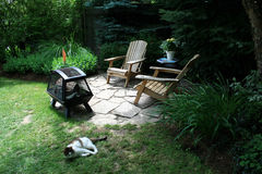Garden with Fireplace Stock Photos