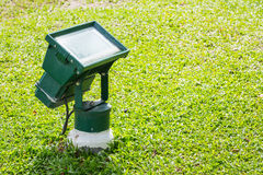 Garden flood light Royalty Free Stock Photography