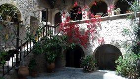 Garden. Flower garden in a cretan monastery Royalty Free Stock Photography