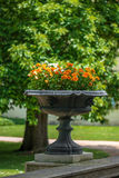 Garden flower vase Royalty Free Stock Photography