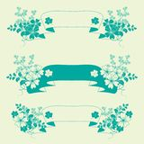 Garden flowers banners set. Garden flowers and herbs banners set Royalty Free Stock Image