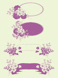 Garden flowers banners set. Garden flowers and herbs banners set Stock Images