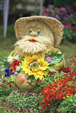 Garden flowers doll Royalty Free Stock Photography