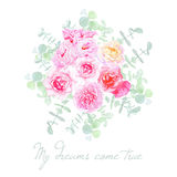 Garden flowers french styled bouquet Royalty Free Stock Images