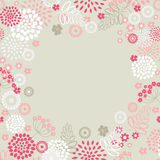 Garden flowers frme background. Garden flowers and herbs background Stock Photo