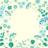 Garden flowers and herbs background. Royalty Free Stock Photos
