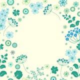 Garden flowers and herbs background. Garden flowers and herbs background frame Royalty Free Stock Photos