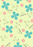 Garden flowers and herbs seamletor illustratio Royalty Free Stock Image