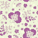 Garden flowers seamless background. Royalty Free Stock Photo