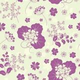 Garden flowers seamless background. Garden flowers and herbs seamless background Royalty Free Stock Photo