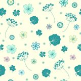 Garden flowers seamless background. Stock Image