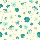 Garden flowers seamless background. Garden flowers and herbs seamless background Stock Image