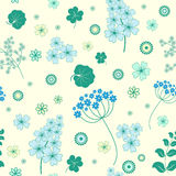 Garden flowers seamless background. Royalty Free Stock Photography