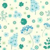Garden flowers seamless background. Garden flowers and herbs seamless background Royalty Free Stock Photography
