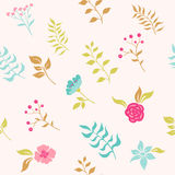 Garden flowers. seamless pattern Stock Photography