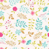 Garden flowers. seamless pattern Royalty Free Stock Photo