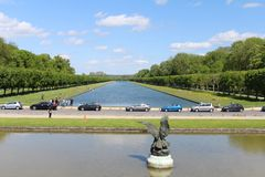 Garden of Fontainebleau Stock Photo