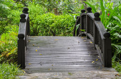 Garden foot bridge Royalty Free Stock Photography