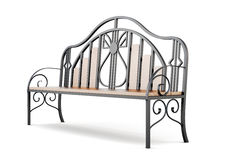 Garden forged bench  on a white background. 3d rendering.  Stock Images