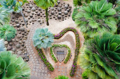 Garden in  form of  heart Royalty Free Stock Images