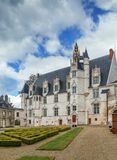 Former bishop`s palace in Beauvais, France. Garden and former bishop`s palace in Beauvais, France stock photography