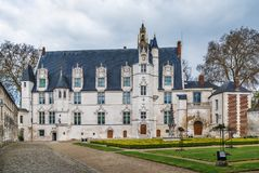 Former bishop`s palace in Beauvais, France. Garden and former bishop`s palace in Beauvais, France royalty free stock images