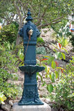 Garden fountain stock photo