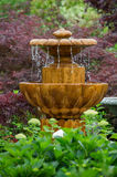 The garden fountain Stock Photography